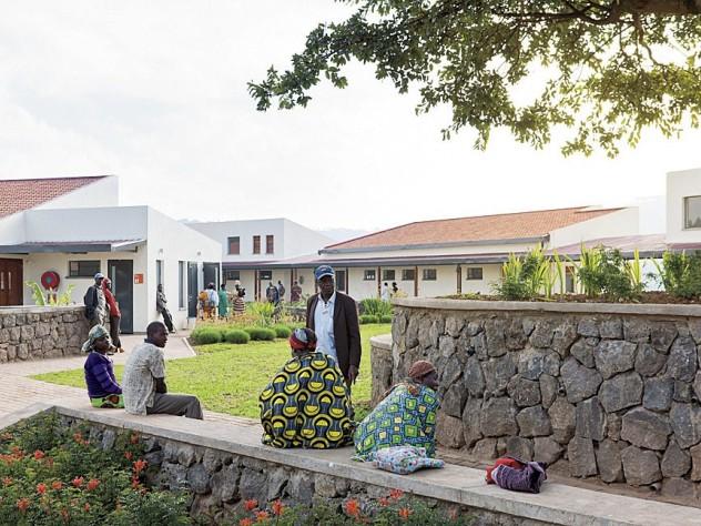 Outdoor areas at MASS Design's Butaro Hospital