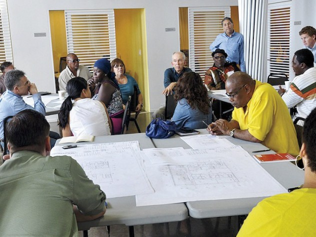 Current Skid Row Housing Trust residents participate in design workshops for future projects.