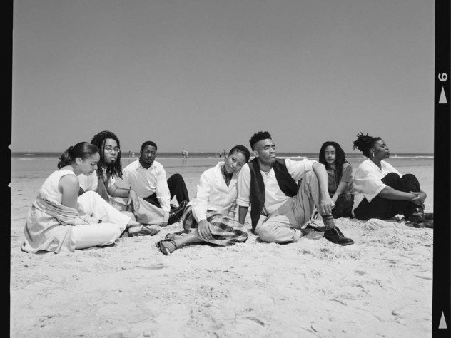 The Collective in 1996: (from left) Natasha Trethewey, Kevin Young, Major Jackson, Nehassaiu deGannes, Thomas Sayers Ellis, Sharan Strange, Adisa Vera Beatty