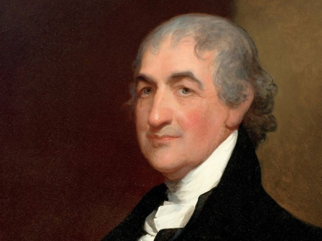 Caleb Strong portrait by Gilbert Stuart, courtesy of Frederick Strong Moseley III '51