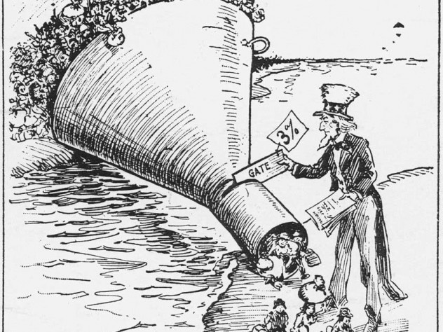 As shown in this political cartoon, the 1921 Emergency Quota Act cut annual immigration from any country to 3 percent of its nationals in the United States in 1910.