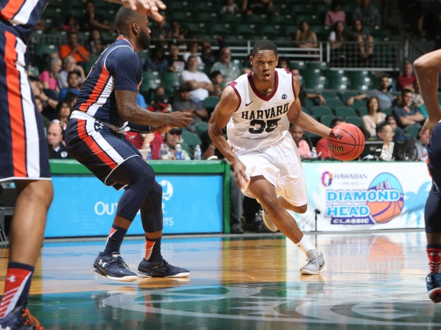 Agunwa Okolie '16 (shown in a file photo) continued his strong play, leading the team with 20 points against Columbia and adding 16 against Cornell.