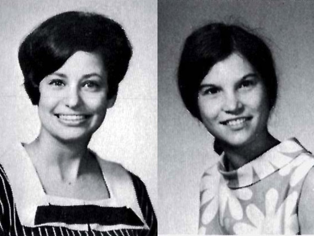 The Harvard Business School student photographs of Roslyn Braeman Payne (left) and Ellen Marram