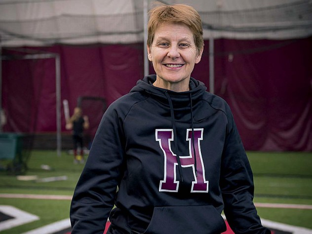 Harvard softball coach Jenny Allard | Harvard Magazine
