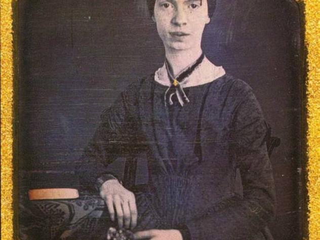 The only known daguerreotype of Dickinson, taken in her teens