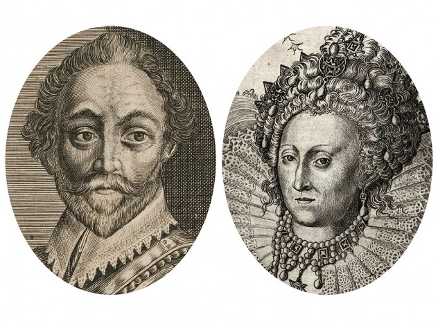Historic images of Francis Drake and Elizabeth I, who feature in a new book by Laurence Bergreen