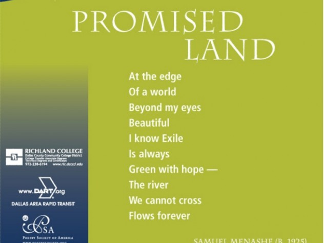 <i>Promised Land</i> by Samuel Menashe
