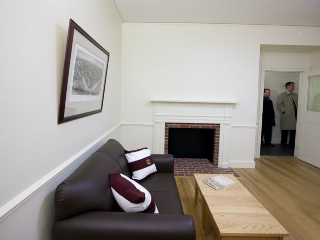 Common room fireplace