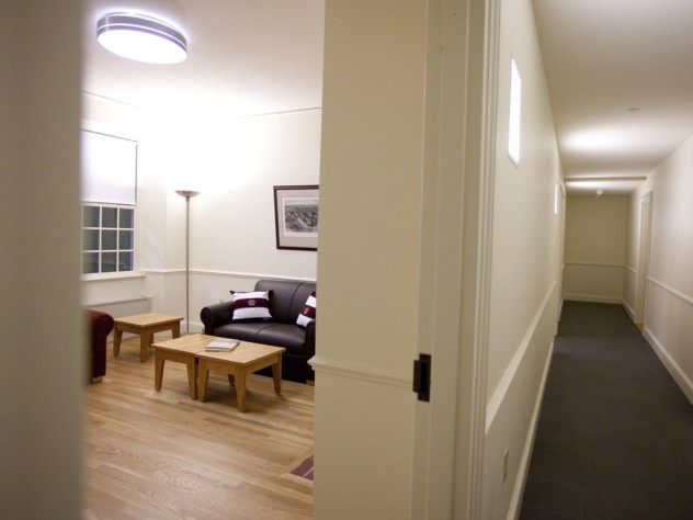 Hallway and common room