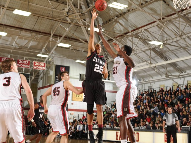 Kenyatta Smith '15 tallied 12 points and made six of seven shots against Brown on Saturday. If he performs reliably in the post against Yale, it will go a long way toward advancing Harvard's NCAA tournament hopes.