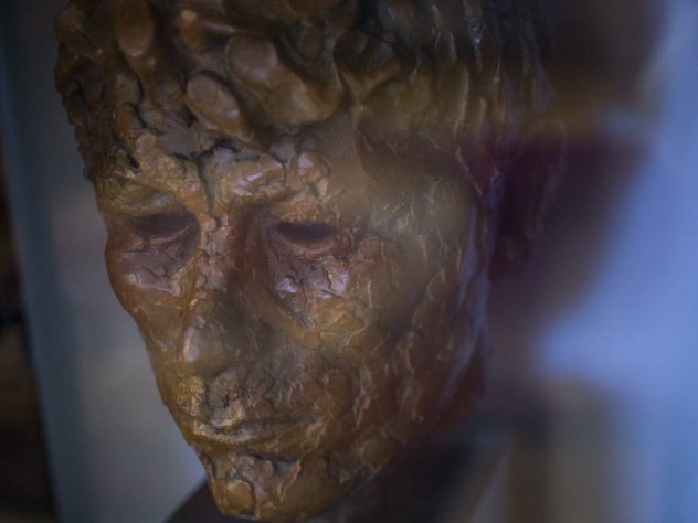 A sculpture of Seamus Heaney, also on display in the suite
