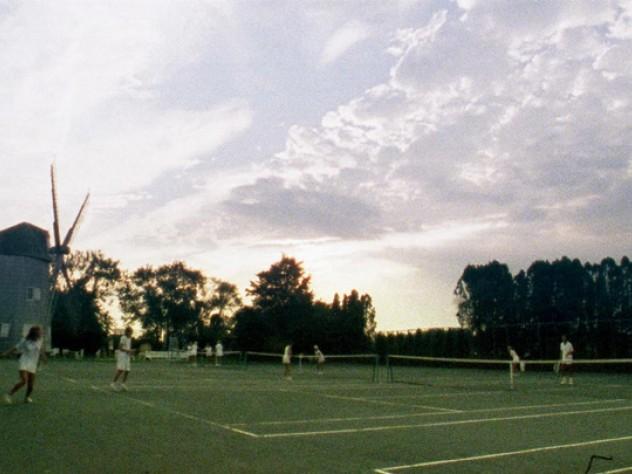 Tennis courts, Wainscott, Hamptons, New York