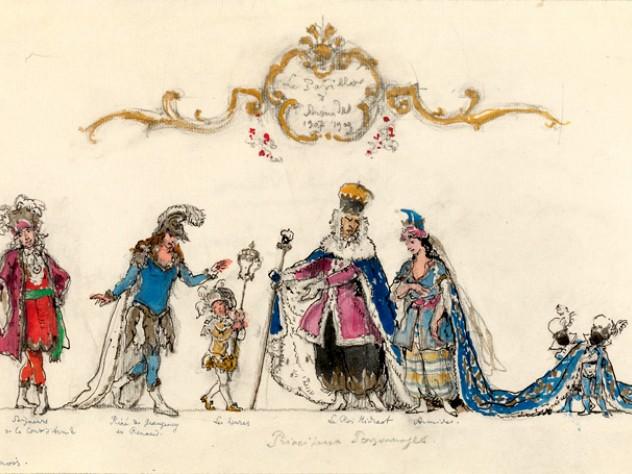 Costume design by Alexandre Benois for <em>Le Pavillon d'Armide,</em> 1909