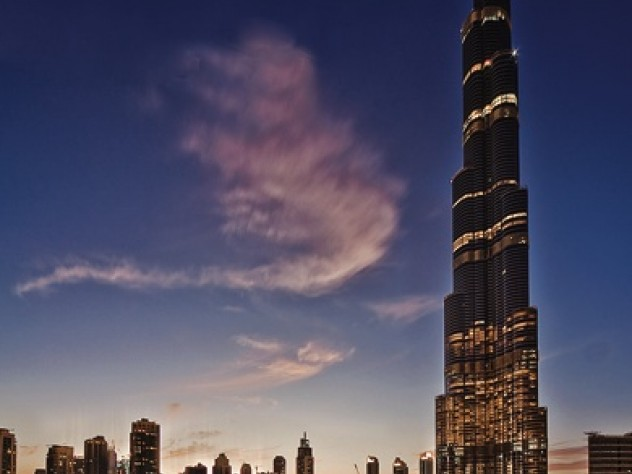 Burj Khalifa, in Dubai, United Arab Emirates, at 2,717 feet, is the world's tallest tower.