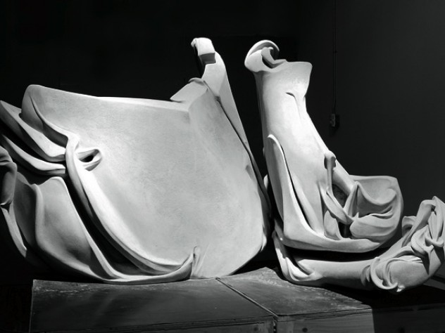<i>Beckoning</i> (2008), one of Dinerstein's recent concrete sculptures