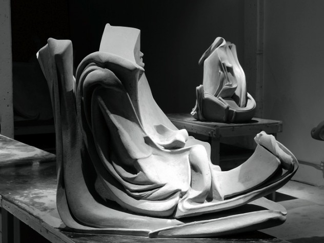 Louis Menand has likened the concrete <i>Sudden Inclination</i> (2008) to an aging Frank Sinatra sitting on a stool.