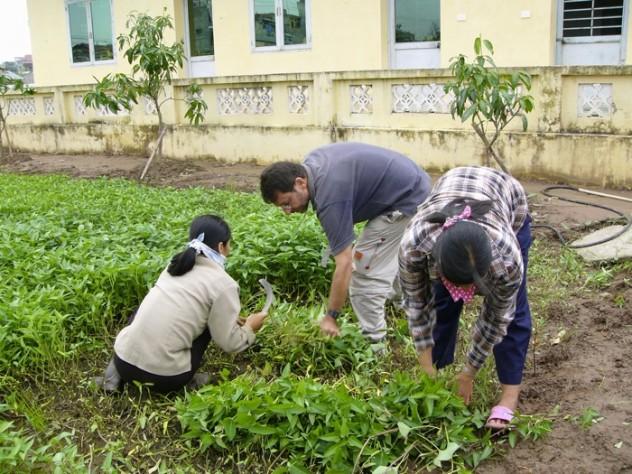 Berlow helped establish the Organic Gardening Project at Vietnam Friendship Village