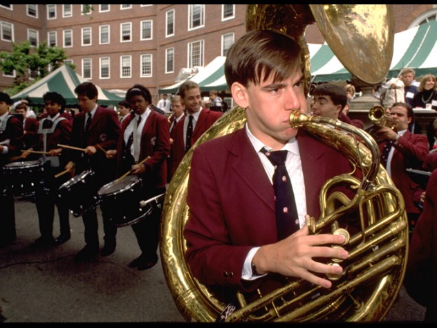 The Harvard Band helps ensure that there is always music at Commencement as well.
