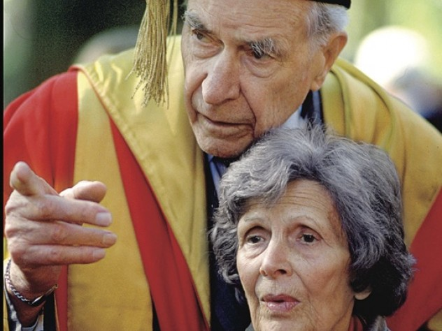 Professor John Kenneth Galbraith and his wife, Catherine (Atwater) Galbraith (1991)