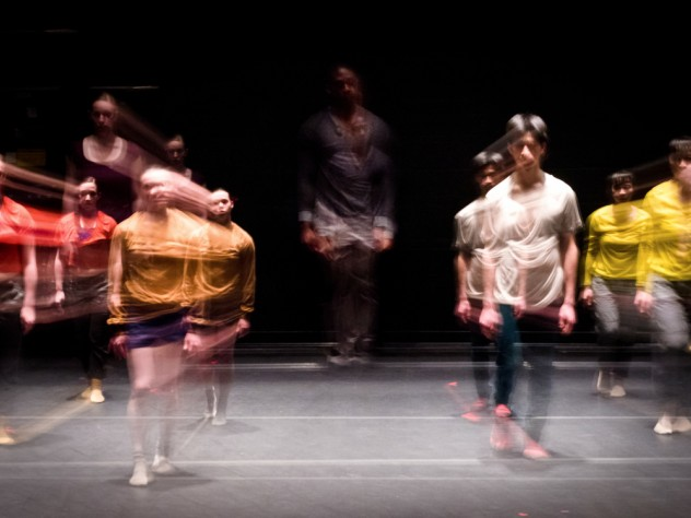 Harvard students perform <i>The Sum of Missing Parts</i> by Dance Program artist-in-residence Christopher Roman.
