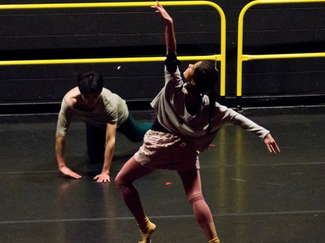 Harvard students perform <i>Third Rail</i> by Office for the Arts dance director Jill Johnson and Dance Program artist-in-residence Christopher Roman.