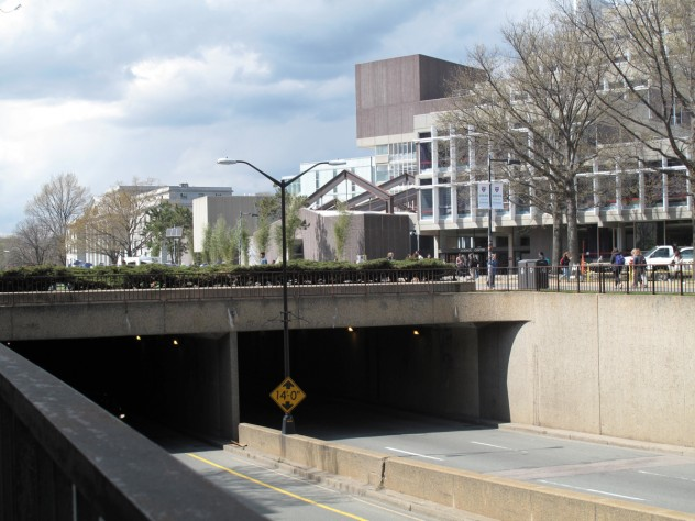 7. The Cambridge Street underpass. Repairs to the waterproofing created the opportunity to rebuild the plaza above.
