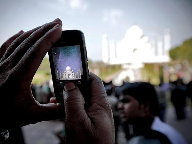 More than two million tourists visit the Taj Mahal each year.