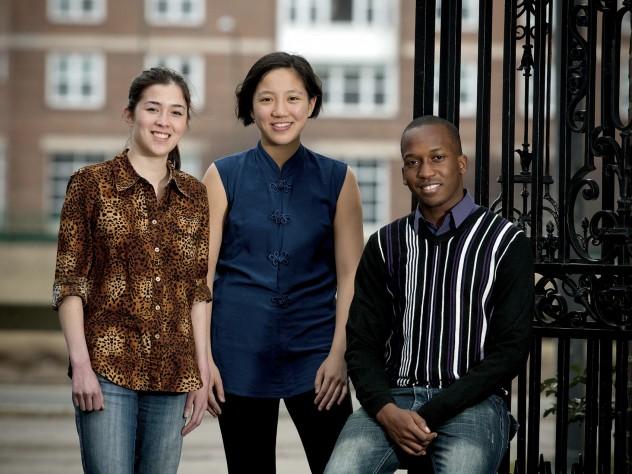 Annie Ryu, Jenny Ye, and Dalumuzi Happy Mhlanga