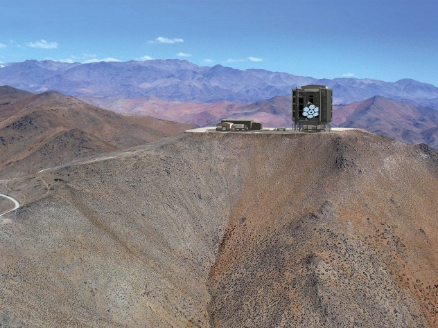 The GMT as it will appear at Las Campanas Observatory, in Chile