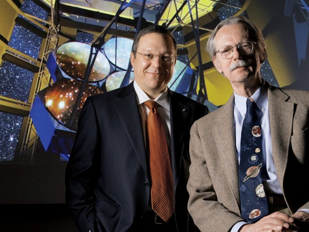 Astronomers Avi Loeb and Charles Alcock at the Harvard College Observatory