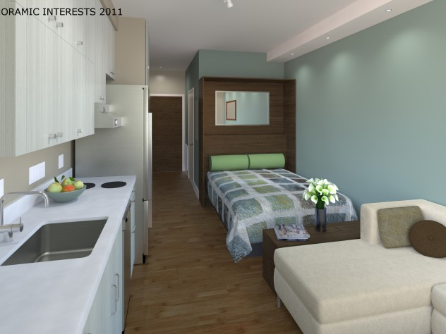 Each Smarte Unit Will Have A Full Sized Sofa And Refrigerator