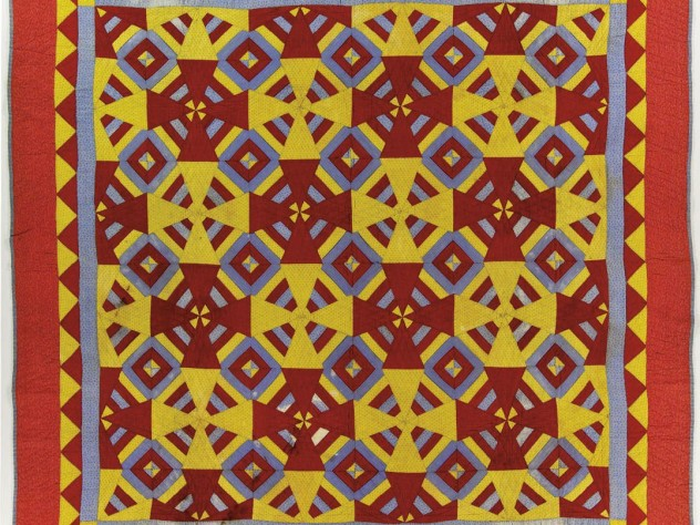 """A """"Roman square"""" pattern, circa 1930-50, possibly from Vermont"""