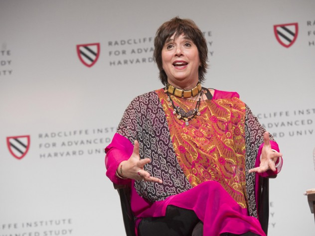 Playwright and activist Eve Ensler opened the two-day conference with a reading from her recent memoir.