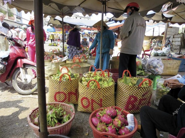 The wholesale produce market in My Tho