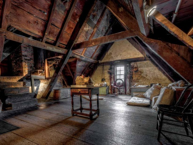 The attic, where the bones of the house reveal its age