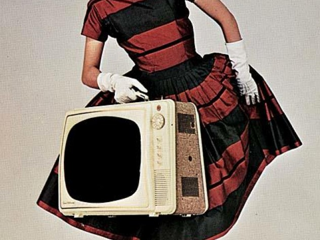 Promoting the Electrohome Courier portable television set (late 1950s)