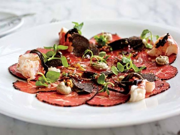 Café ArtScience's version of beef carpaccio