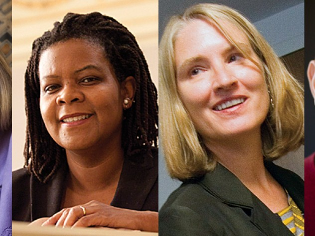 From left: Caroline Elkins, Annette Gordon-Reed, Ingrid Monson, and Andrew Strominger