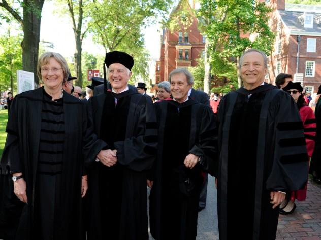 Drew Faust (2007-present), Derek Bok (1971-1991, 2006-2007), Neil Rudenstine (1991-2001), Lawrence Summers (2001-2006)