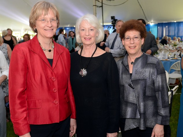 President Drew Faust, Radcliffe Medal recipient Jane Alexander, and dean of the Radcliffe Institute for Advanced Study Lizabeth Cohen