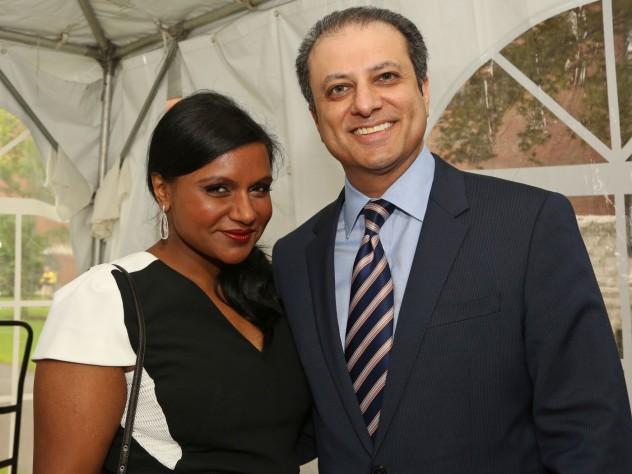 Mindy Kaling and Preet Bharara