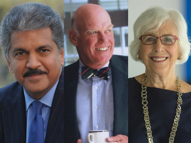 From left: Anand G. Mahindra, J. Louis Newell, and Emily Rauh Pulitzer