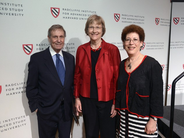 Former Harvard president Neil L. Rudenstine, who recruited Faust as the inaugural dean of the Radcliffe Institute for Advanced Study, also spoke at the luncheon.