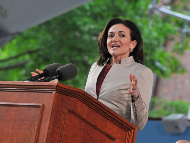Sheryl Sandberg at Class Day