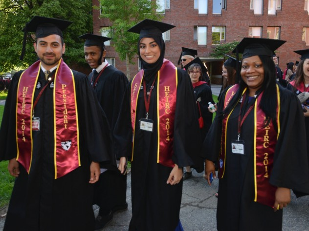 Harvard Extension International Relations Club members show their colors.