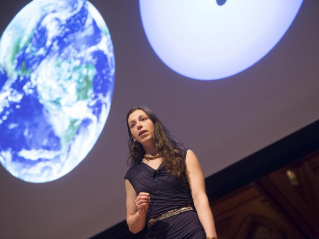 Elisabeth Newton, a Ph.D. candidate in astronomy, explains how scientists learn about planets via their stars.