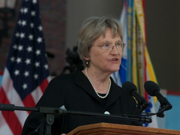 President Drew Faust linked service and inclusiveness.