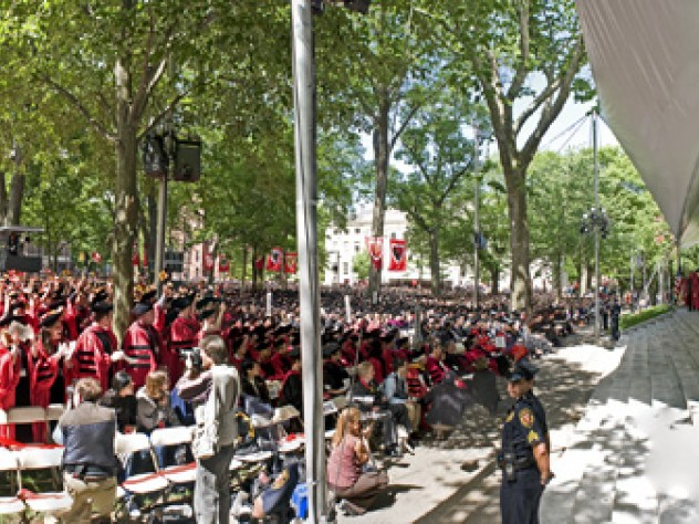 Tercentenary Theatre on Commencement morning; a composite view