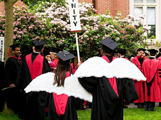 Masters of divinity and marshals Taylor Guthrie, of Louisville, and Marcus McCullough, of Seattle, have won their wings.