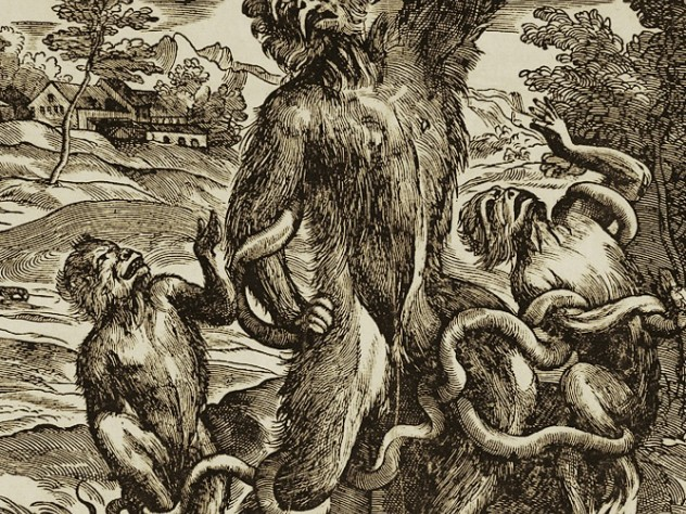 Caricature of the Laocoön, c. 1540-45, by Niccolò Boldrini, at the Sackler